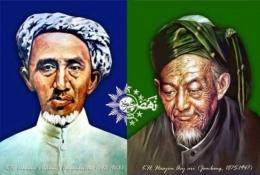 K.h. Ahmad Dahlan, dan K.H. Hasyim Asy'ari, Dua Tokoh Pendiri NU dan Muhammadiyah (foto: www.aktual.com)