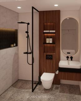 Bathroom. Picture by Viviani Novarine, Universitas Kristen Petra