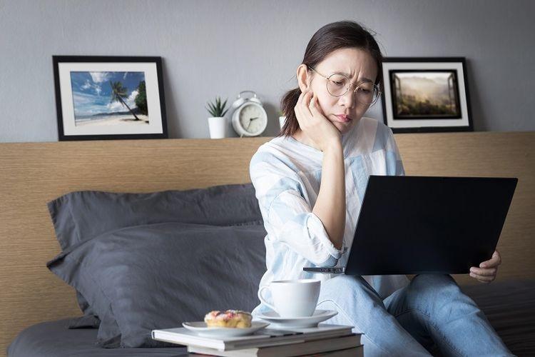Ilustrasi karyawan saat kerja dari rumah  Sumber: Shutterstock/AsianDelight via Kompas.com