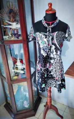 Dress hasil rancangan dan produksi Rulia Fitrianti (dokpri)