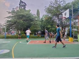 Lapangan yang dimainkan untuk 4-play basketball. (Foto arsip: @4playbasketball/Mbiw)
