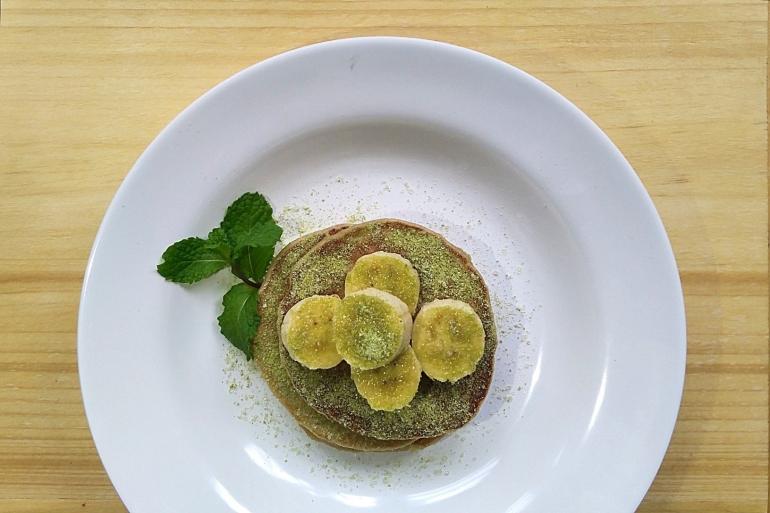 Banana oatmeal pancake (Sumber: dokpri)