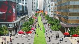 """www.scmp.com   Foto kedua: Antara bangunan pencakar langit, mempunyai ruang public bersama dan di desain untuk beristirahat di jam2 makan siang.Akan banyak manfaat dibanding hanya dipagasi saja, dan ruang2 ini hanya menjadi """"taman yang terbengkalai"""" ......"""