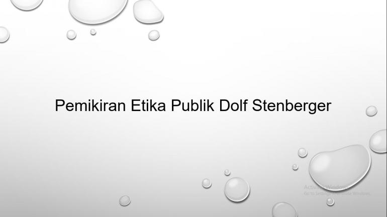 Dolf Stenberger || Dokpri