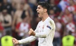 Morata bawa Spanyol Ungguli Kroasia I Photograph: Jonathan Nackstrand/AP