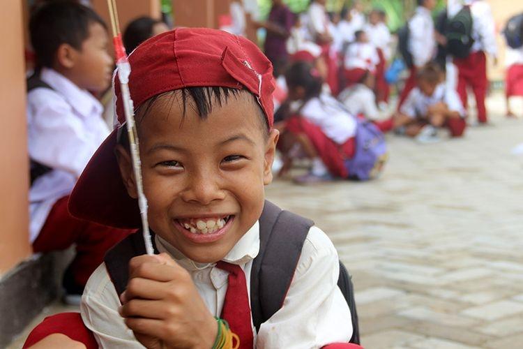 Ilustrasi anak sekolahan. (KOMPAS. com/FITRI R)