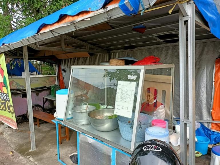 Penjual Gudeg di Utara Tugu Jogja Sumber foto: Dokpri
