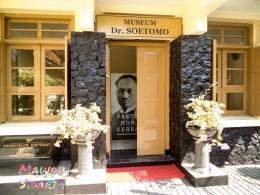 Pintu masuk Museum Dr Sutomo Surabaya (Dokumentasi Mawan Sidarta)
