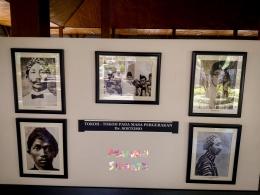 Beberapa foto tokoh pergerakan nasional, antara lain foto : Tjipto Mangunkusumo, Wr. Supratman, Tjokroaminoto, Wahidin Sudirohusodo dan Ir. Sukarno (Dokumentasi Mawan Sidarta)
