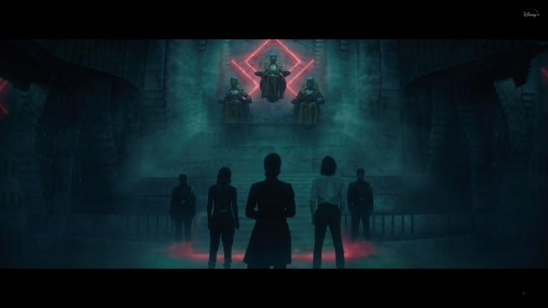 Loki dan Sylvie akhirnya bertemu dengan Time-Keepers. Sumber : Disney+