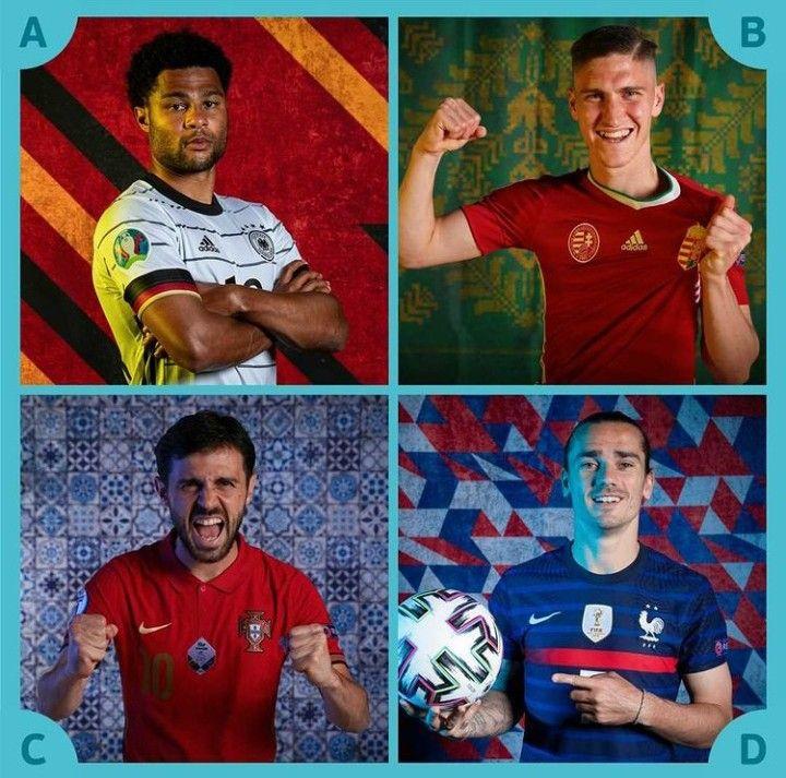 Para peserta Grup F Euro 2020. Dok. Instagram/Euro2020