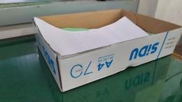 Kotak bekas kertas dapat kita gunakan untuk boks transit   Dok. pri