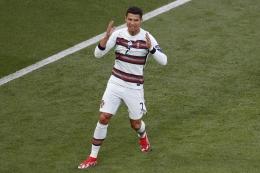 Cristiano Ronaldo, pemain timnas Portugal. Sumber foto: AFP/Laszlo Balogh via Kompas.com