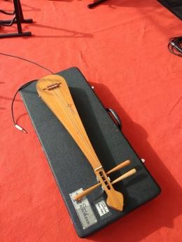 Lute langsing salah satu alat musik yang terpahat di relief Borobudur (dokumen pribadi Riana Dewi)
