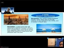 Borobudur ditetapkan sebagai 5 destinasi super prioritas (screen shoot zoom dokumen pribadi)