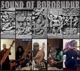 Reinterprestasi alat musik yang ada di relief-relief candi Borobudur (sumber: Sound of Borobudur)