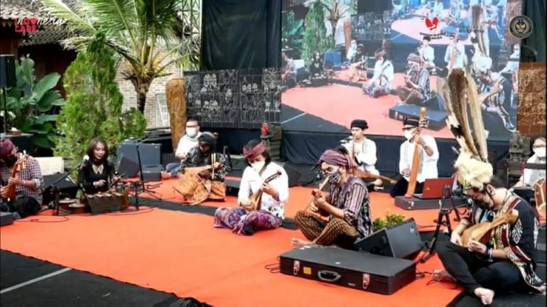 Ansambel Sound of Borobudur di Interntional Conference Sound of Borobudur (sumber: YT Sound of Borobudur)