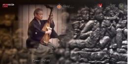 Alat musik Biwa dari Jepang (Screenshot video Sound of Borobudur)