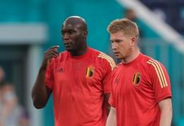 Lukaku dan De Bruyne pemain berbahaya lini serang Belgia/UEFA.com