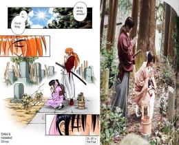 Perbedaan manga dan live action | source FB : Rurouni Kenshin.