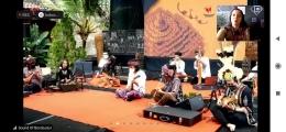 Penampilan para musisi sound of Borobudur. Dok : tangkapan layar zoom acara sound of Borobudur