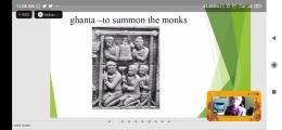 Penjelasan mengenai Ghanta oleh Prof Margaret Kartomi, narasumber konferensi internasional Sound of Borobudur. Dok : tangkapan layar zoom sound of Borobudur