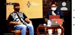 Prof Baiquni MA sedang membicarakan tentang sound destination. Dok : tangkapan layar zoom sound of Borobudur.