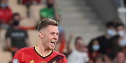 Thorgan Hazard Membuktikkan Kualitasnya dengan Golnya ke Gawang Portugal - Sumber : bola.kompas.com