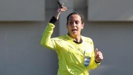Wasit perempuan asal Lebanon, Doumouh Al Bakkar. (dok:FIFA)