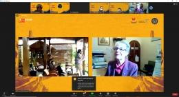 Pemaparan oleh pembicara pertama di sesi 1, Prof. Margaret Kartomi - Monash University, Australia. (Dok : pribadi)