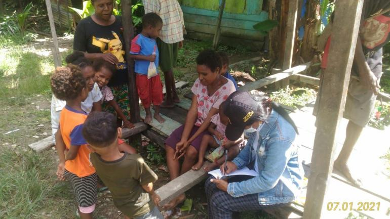Pendaftaran Ulang SD Santo Rafael Kaugapu, Mimika Timur (Dok. pribadi)
