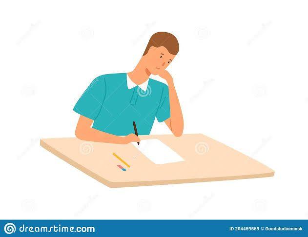 Konsentrasi menulis (Dreamstime.com)