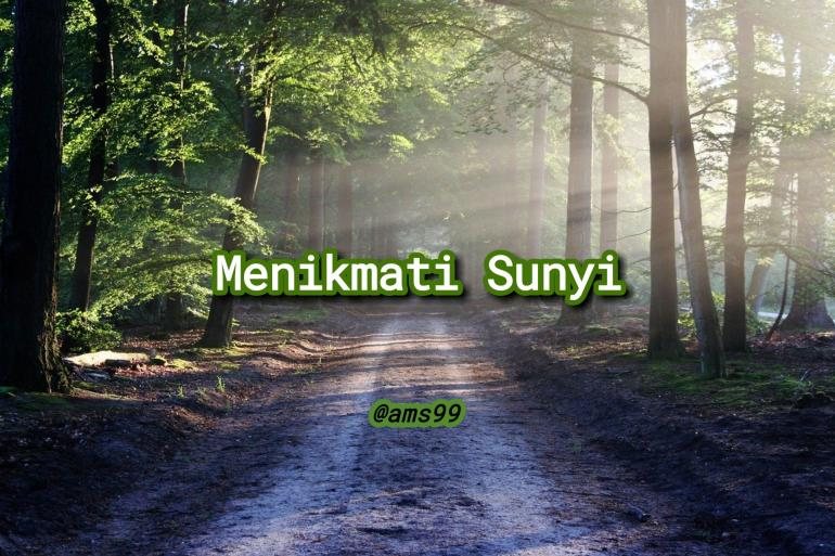 Puisi Menikmati Sunyi (Dokpri @ams99_By. Text On Photo)