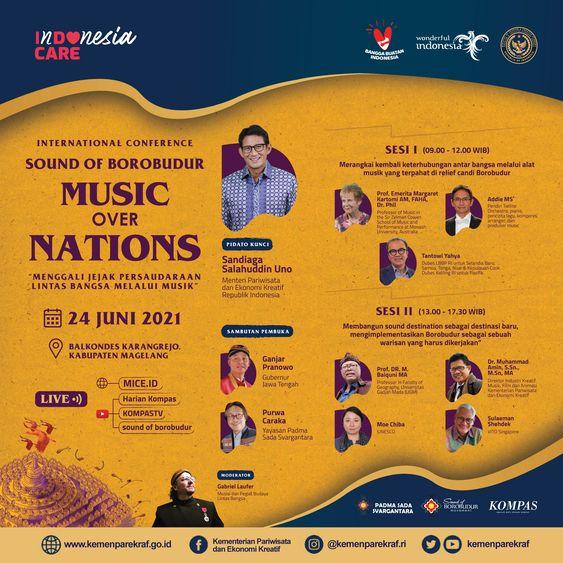 Webinar Sound of Borobudur: Musik Over Nations/dok.Kemenparekraf