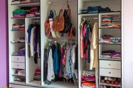 Ilustrasi lemari pakaian. (SHUTTERSTOCK/VOVAKLAK via kompas.com)