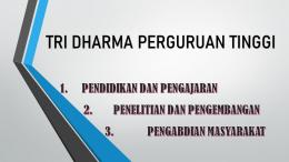Tri Dharma Perguruan Tinggi. (Dokpri)