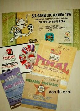 Sebagian koleksi tiket pertandingan sepak bola (dokumen pribadi)