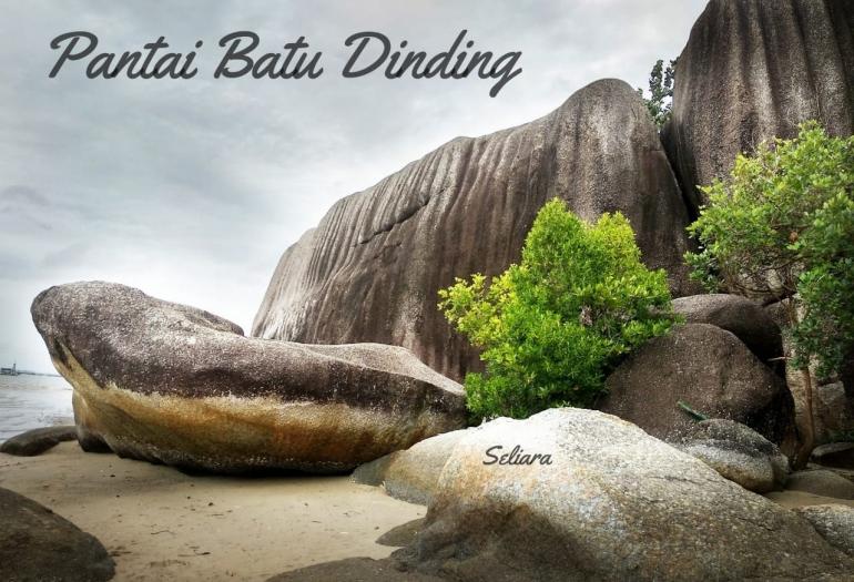 Ilustrasi Pantai Batu Dinding Bangka. (Dokumentasi pribadi)