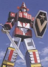 Robot Goggle V ,robot raksasa pertama di film yang merupakan penggabungan 3 jenis kendaraan. Sumber gambar: powerrangers.fandom.com