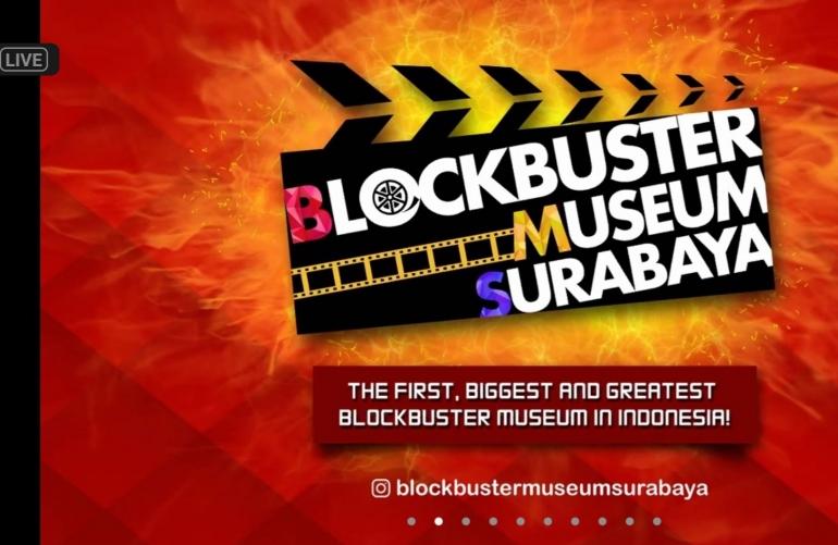 Tur Virtual Blockbuster Museum Surabaya. Sumber gambar: tangkapan layar acara tur virtual