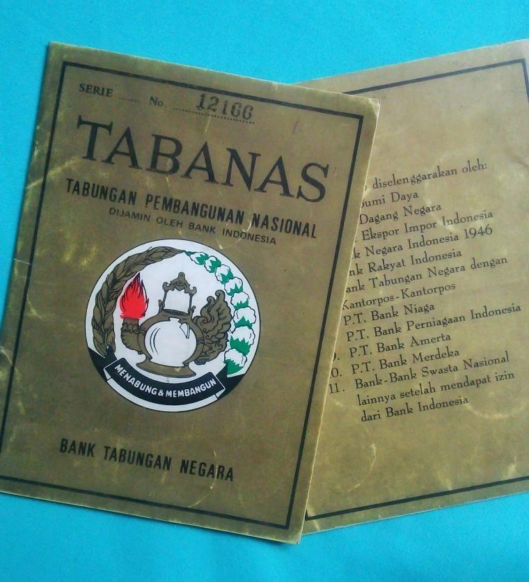 Buku tabungan Tabanas keluaran Bank Tabungan Negara. (Sumber: Kompasiana)