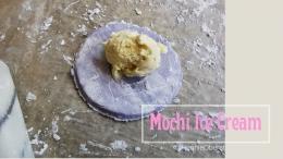 Es krim mochi sebelum dibungkus | foto: HennieTriana