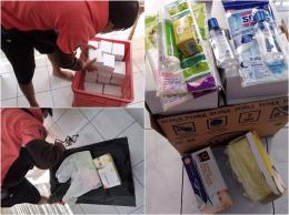 Pak Senen membantu mengantarkan makanan, masker dan vitamin untuk orang yang terdampak pandemi dan sedang isolasi mandiri   Dokumentasi pribadi.