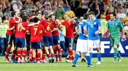 Timnas Spanyol pesta gol ke gawang Italia di final Euro 2012/UEFA.com