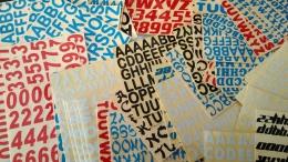 Stiker angka dan huruf (Dokpri)