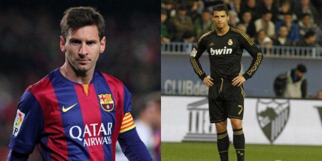 Gambar ilustrasi Messi dan Ronaldo sama-sama berusia 27 tahun. Sumber : the18.com