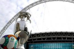 Ilustrasi Stadion Wembley, London, Inggris. Sumber: WEMBLEYSTADIUM.com/kompas.com