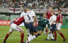 Inggris vs Denmark di Piala Dunia 2002/ dailymail.co.uk