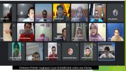 Dokumen Pribadi: tangkapan Layar Kuliah  online Daring (Dokpri)