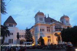 Bank Indonesia Yogyakarta di Senja hari (dokpri)